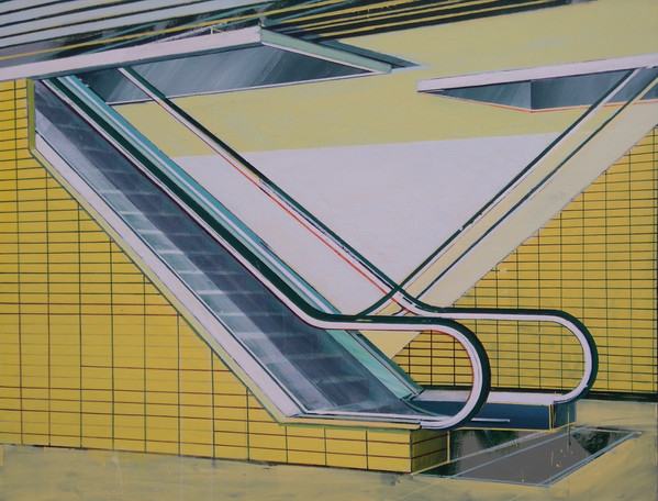 'Glasgow Escalator' 125x100cm