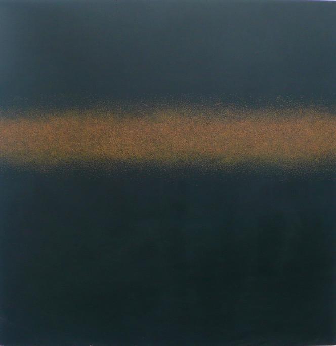 Ivory Black over Yellow 150x150cm