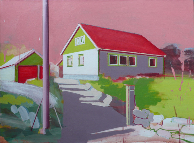 House with Red Roof 60x45cm