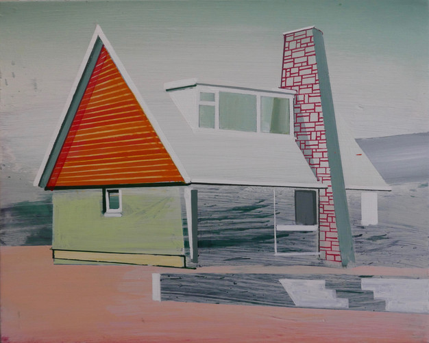 Triangle House 38x30cm