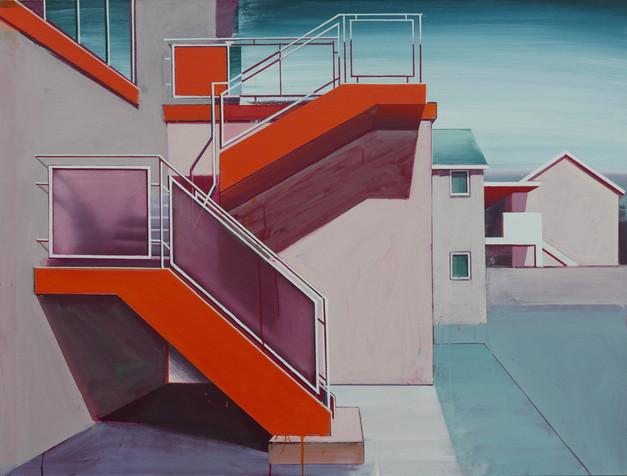 'Orange Stairway' 125x100cm