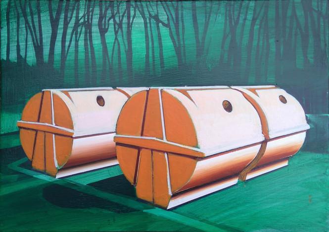 Orange Bins 30x21cm