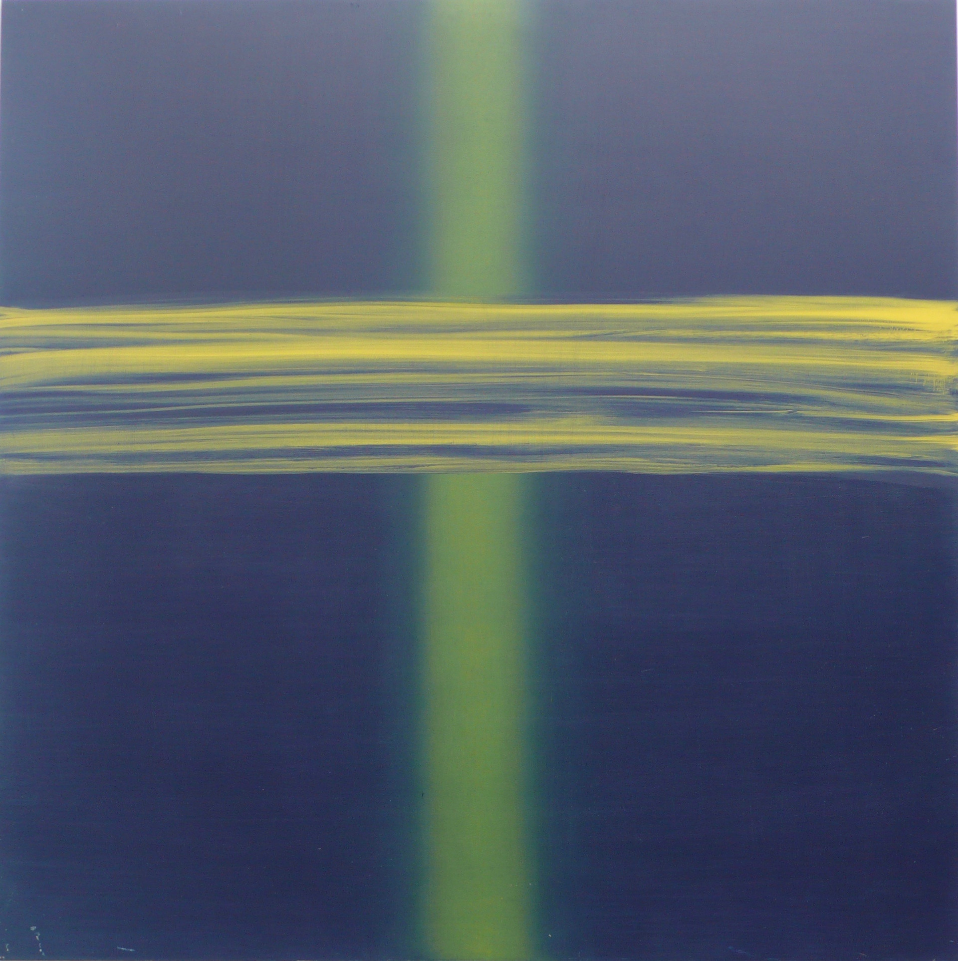 Blue over Yellow 150x150cm