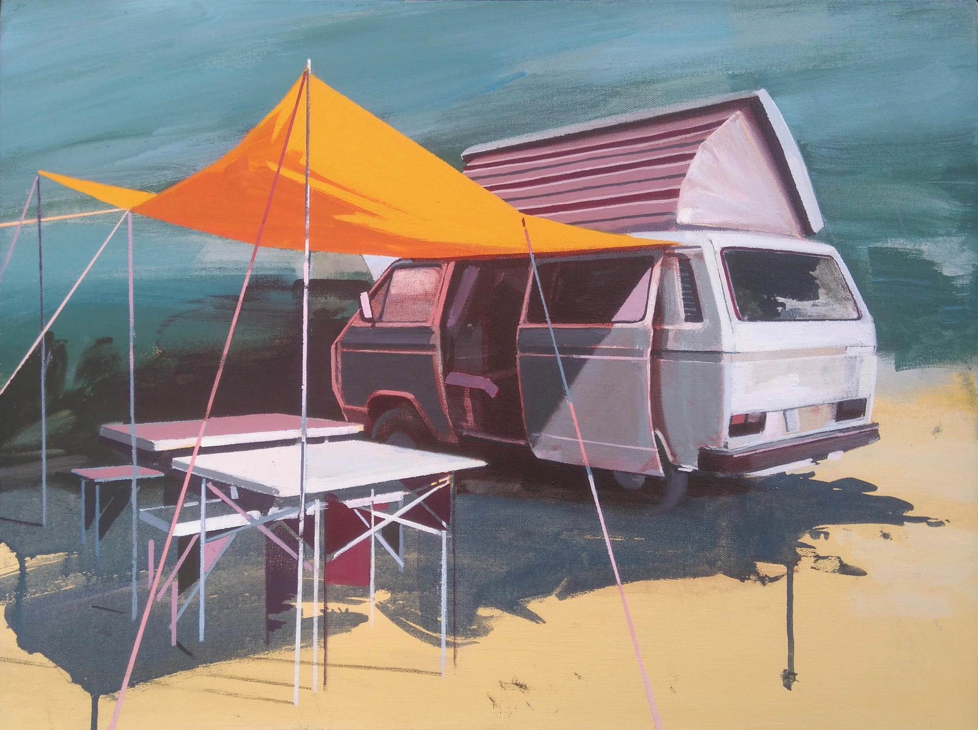 Orange Canopy 60x45cm