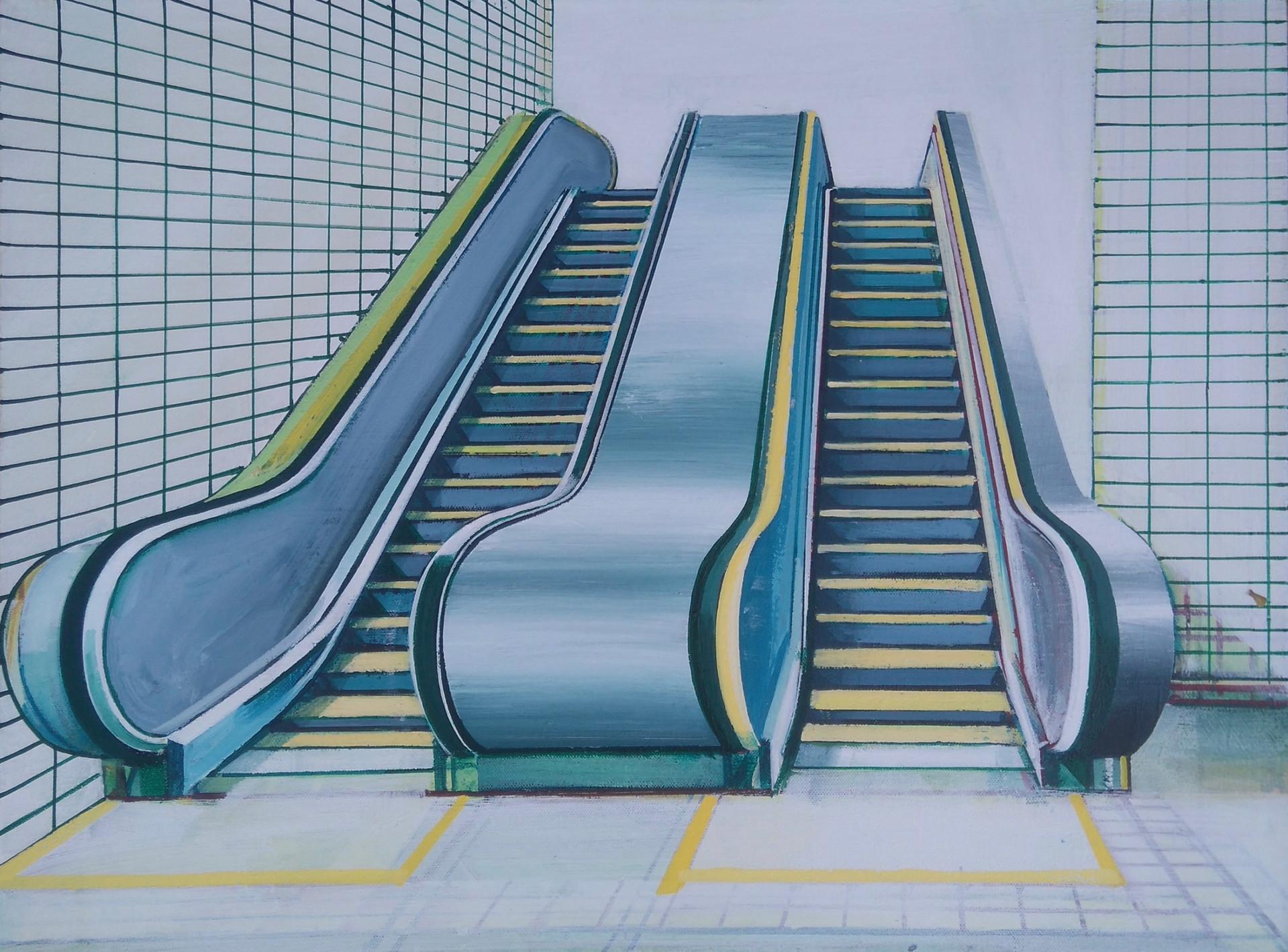 'Escalator 2' 60x45cm