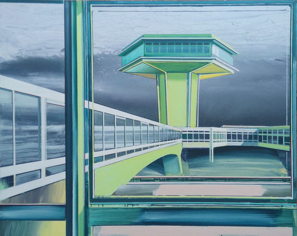'Green Tower' 125x100cm