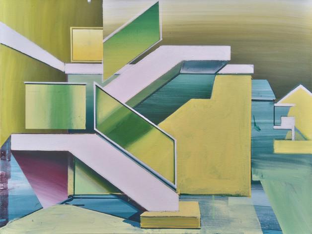 'White Stairway' 60x45cm