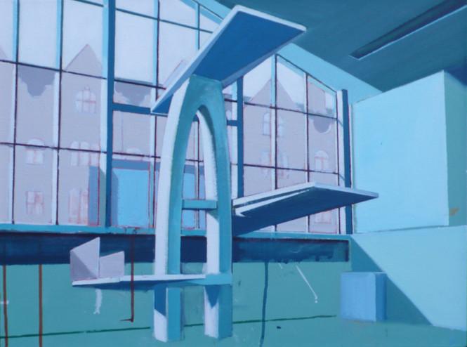 Blue Baths 60x45cm