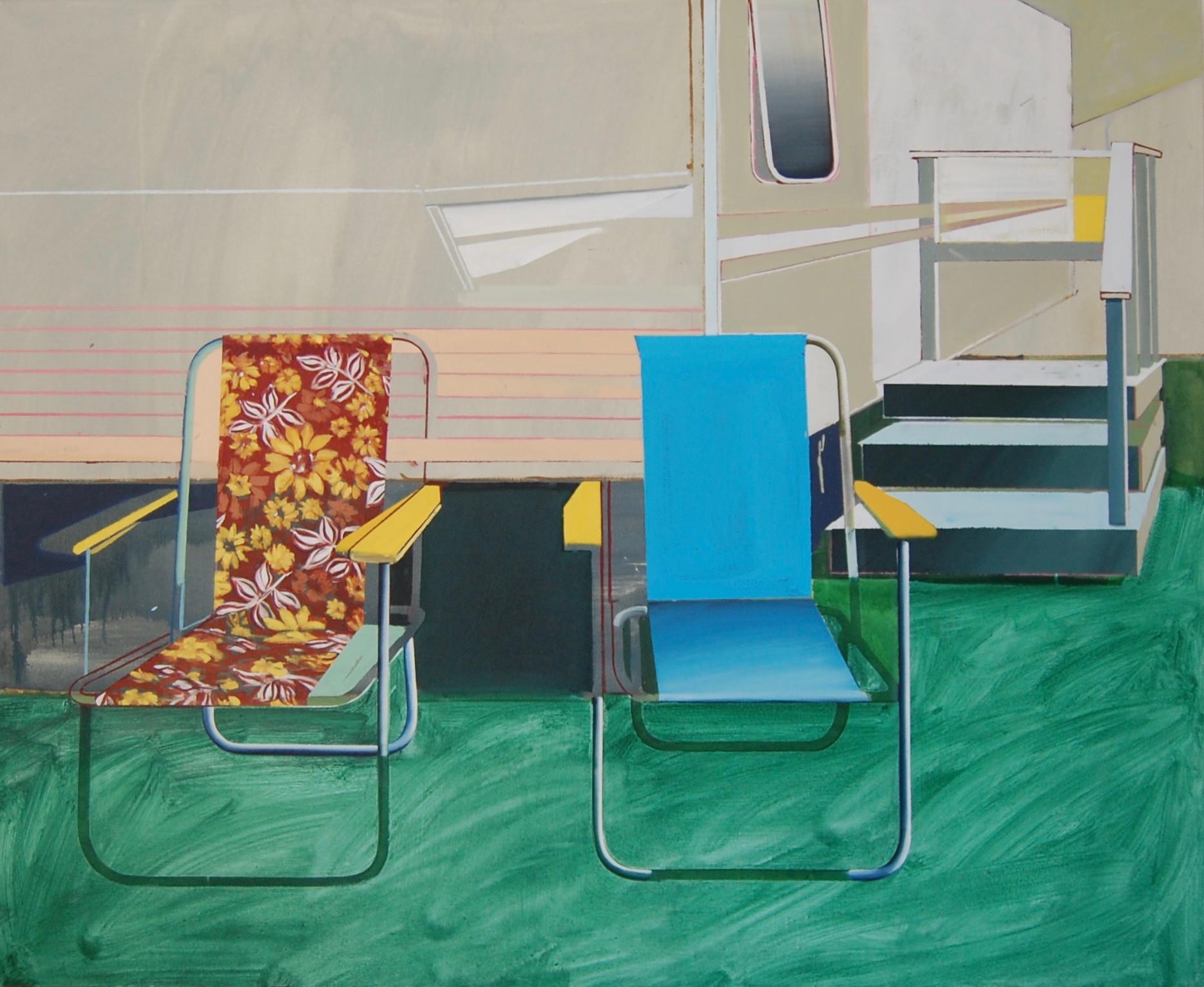'Deckchairs' 165x135cm