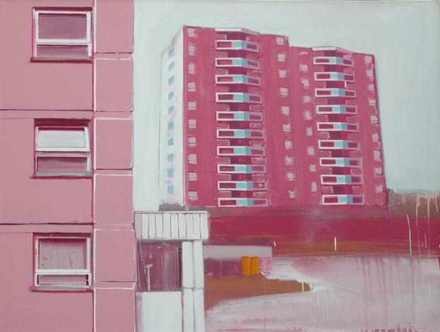 Pink Flats 125x95cm