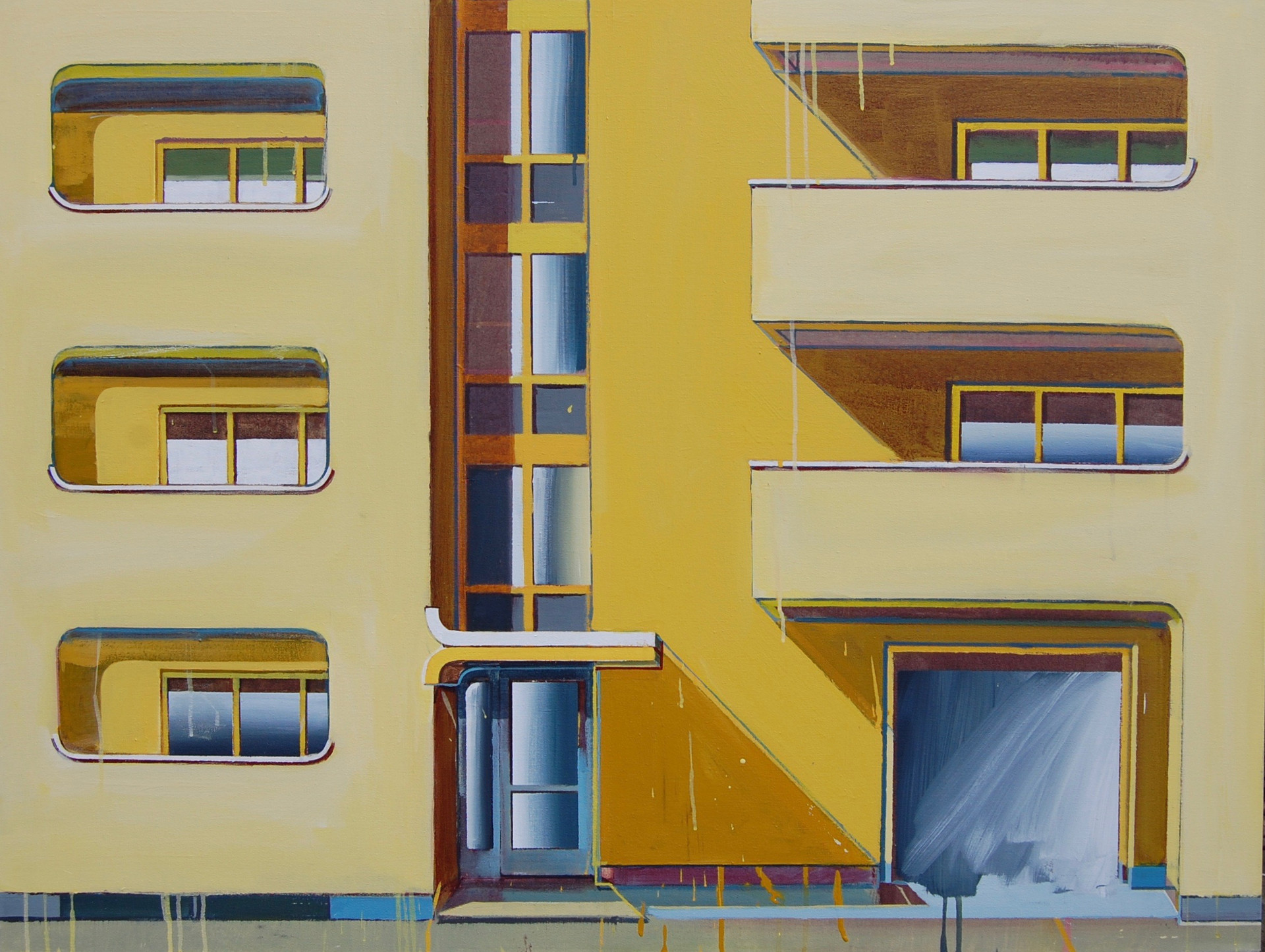 Yellow Flats 2 125x100cm