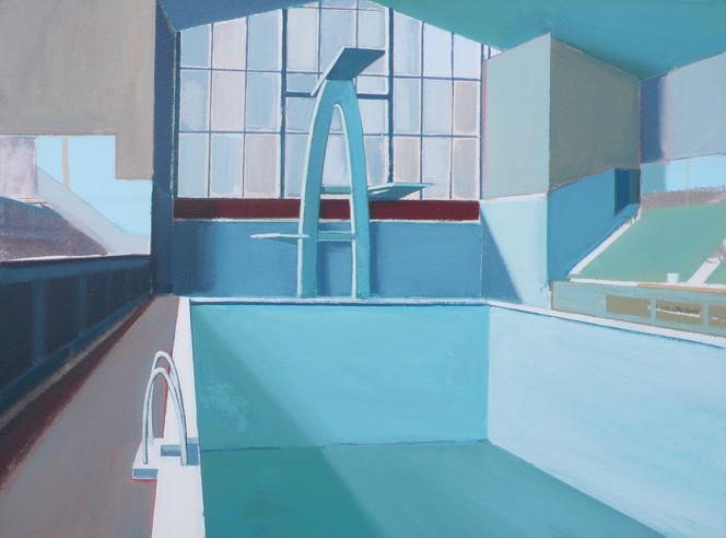 Blue Baths 2 60x45cm