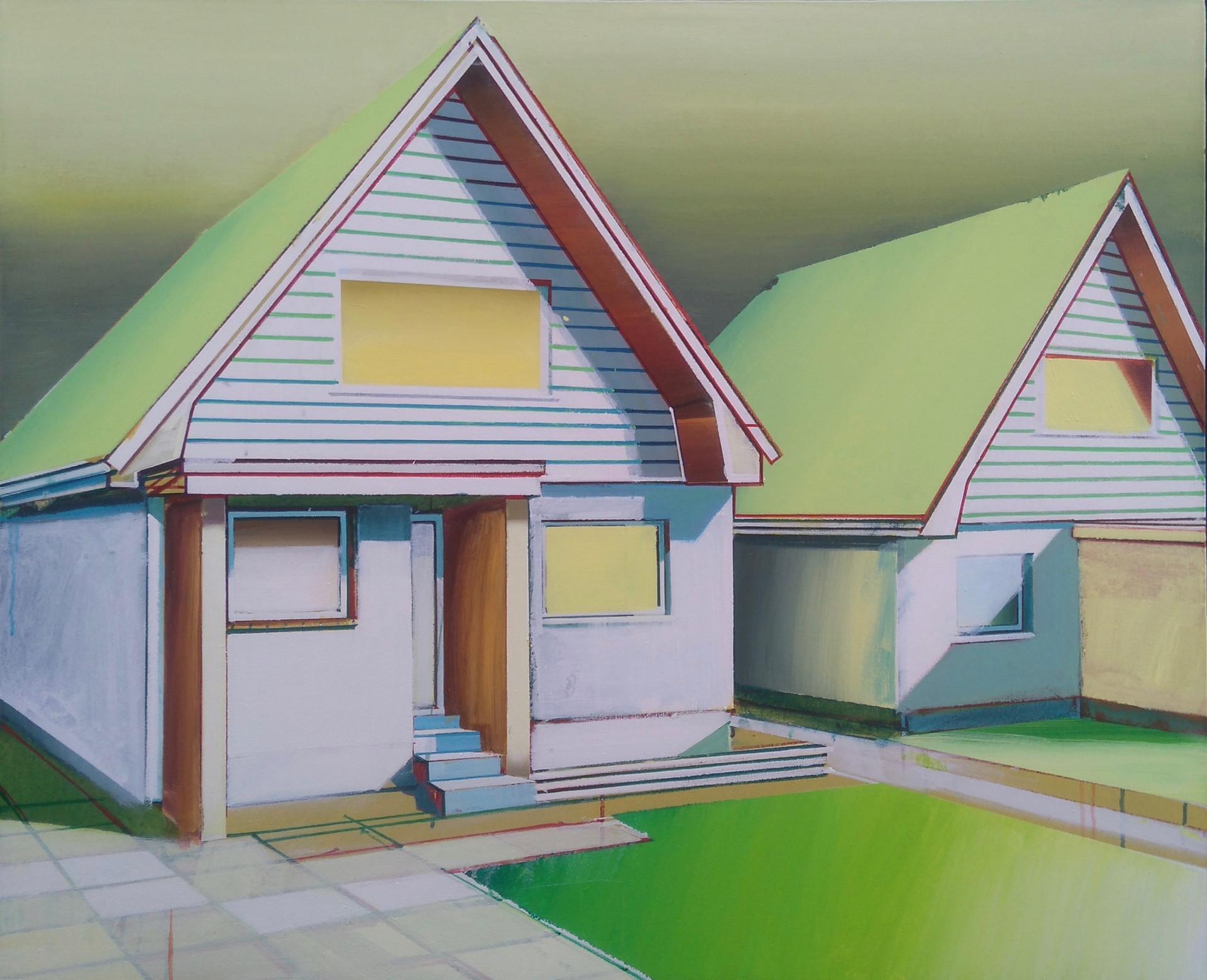 Triangle Houses 100x80cm