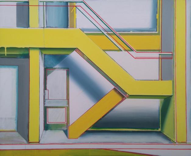 'Yellow Stairway' 100x80cm