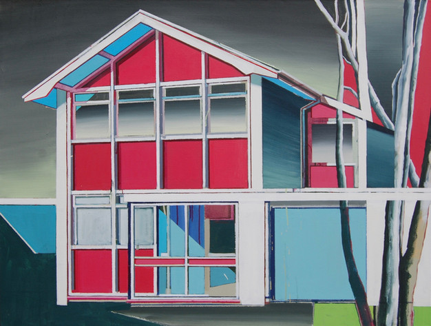 Red House 125x100cm