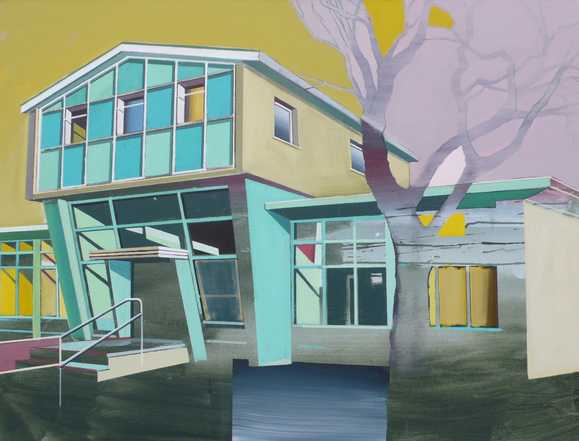 Green Library 125x100cm