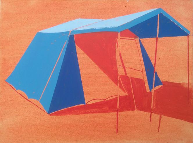 Blue and Orange Tent 60x45cm