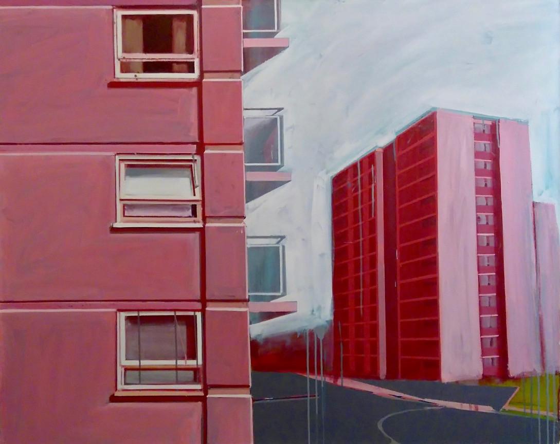 Pink Flats 2 125x100cm