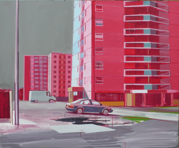 Red Flats 165x135cm