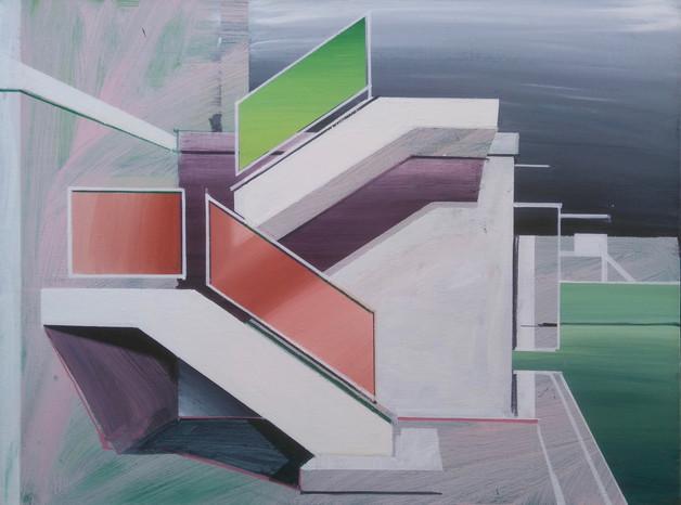 'White Stairway 2' 60x45cm