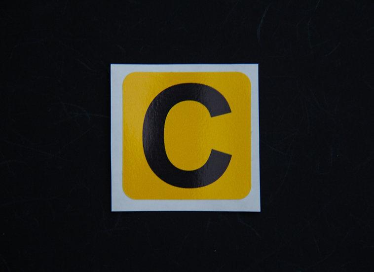 Camera ID Stickers - 20x20mm