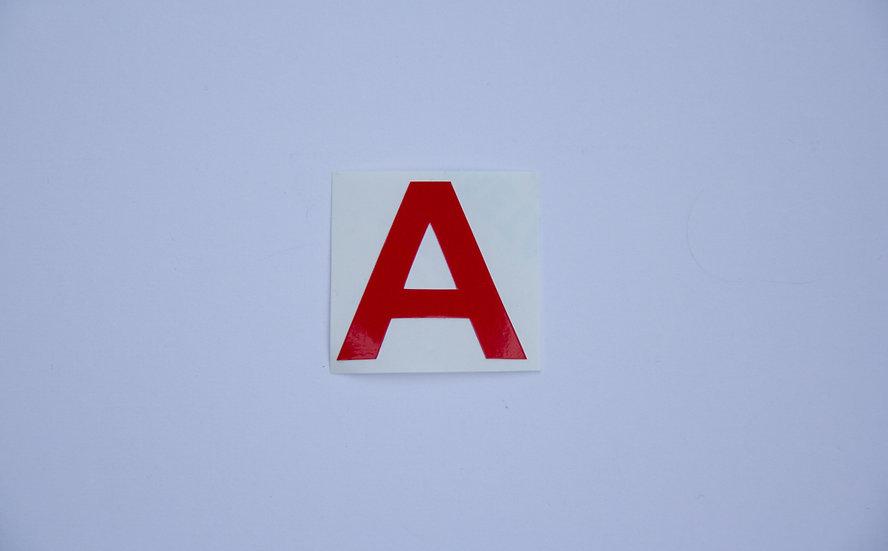 Camera ID Stickers - Letter Cutouts