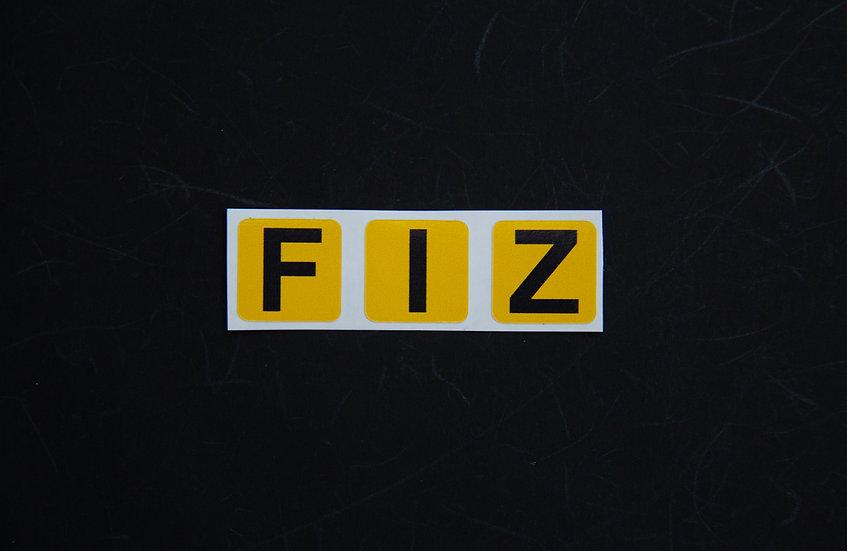 FIZ Stickers (Individuals)