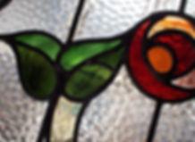 1930s front door stained glass design