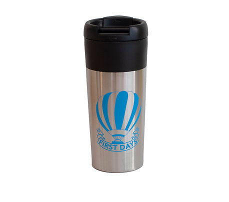 First Days Travel Mug -Silver