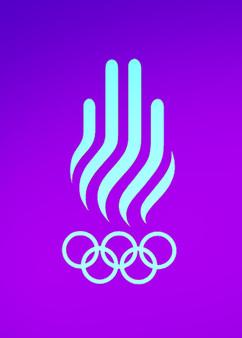 Barcelona 1992 logo aqua sobre purple