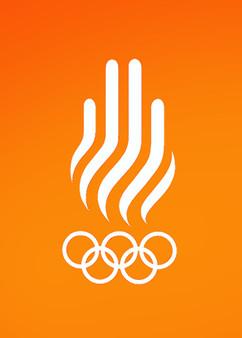 Barcelona 1992 logo sobre cielo naranja