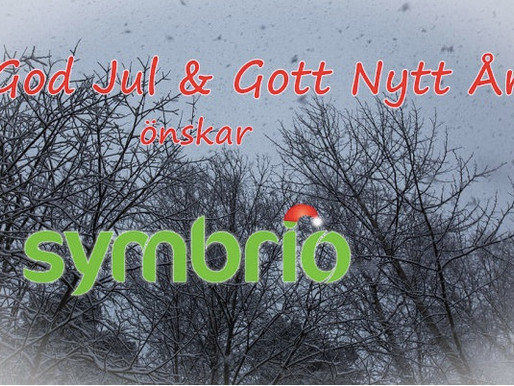 God Jul & Gott Nytt År önskar Symbrio!