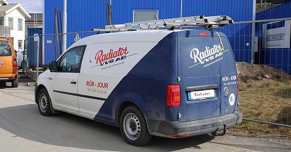 Radiator på väg till jobb