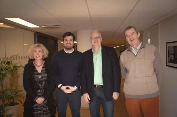 En bild på några ur Symbrios styrelse: Maria, Daniel, Bo och Axel