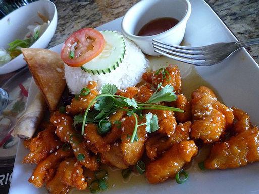 54. Thai Orange Chicken or Tofu Lunch 9.95