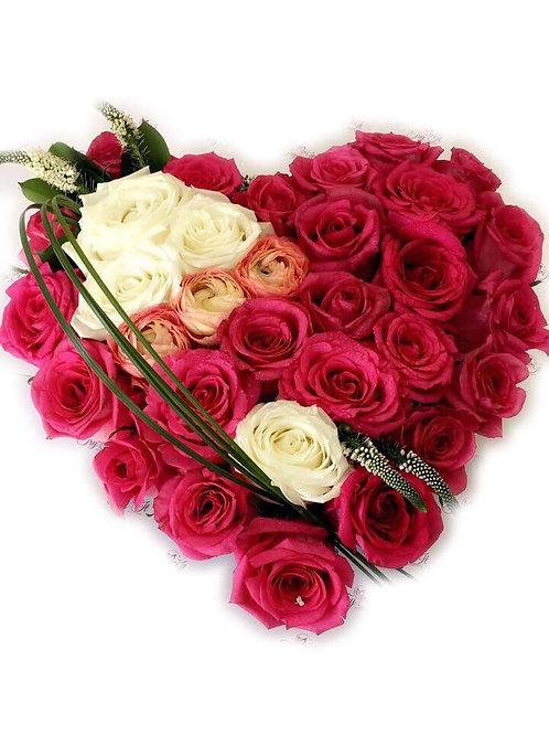 Flower Heart Shape 019