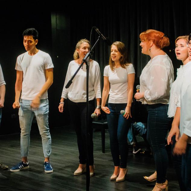 Adult pop choir at our showcase