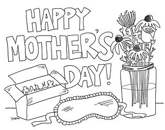 Happy Mother's Day, Mama! I hope your day includes take-out from your favorite restaurant, a few nice flowers, and a nice long, uninterrupted nap! You're awesome!