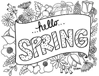 """There's a lot of doom and gloom in the news right now. How about a nice floral """"Hello Spring"""" message to cheer you up? It's the next best thing to getting flowers in person. Enjoy!"""