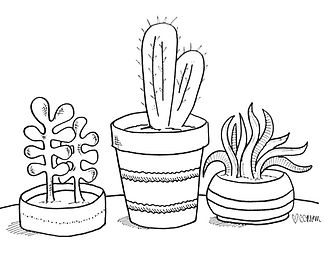 This little trio of cacti is yours for the taking. Download and enjoy!