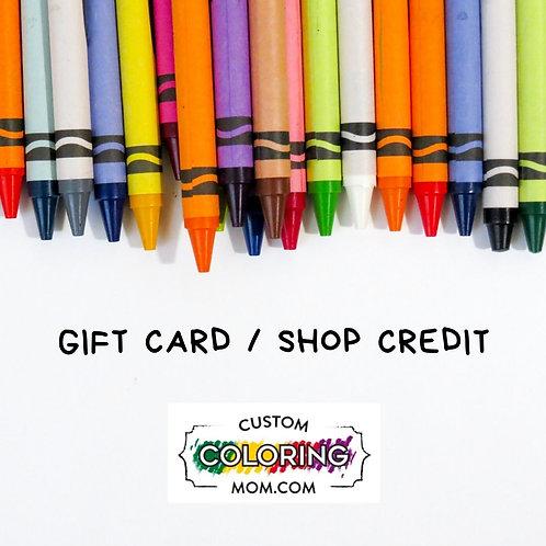 Digital Gift Card / Shop Credit