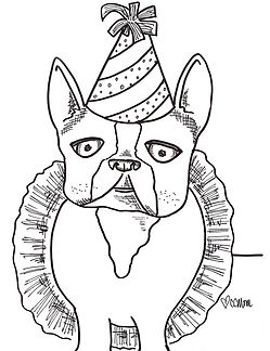 This pup is READY for National Dog Day. Print it and have some fun! She's also featured in the Custom Coloring Mom Coloring Book.