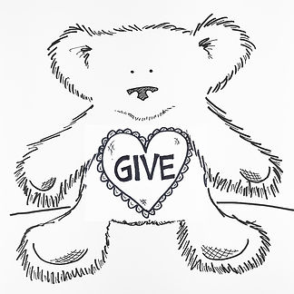 It is better to give than to receive. This bear is one of my signature drawings, and I'm making it a free download for Giving Tuesday!
