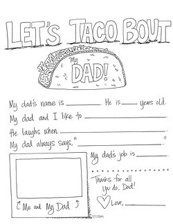 This Father's Day free printable worksheet is fun to fill out and a joy to give to the special dad at your house. Happy Father's Day, guys!