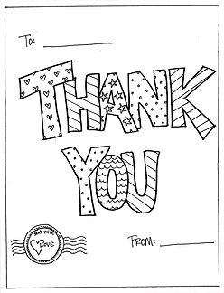 Keep this customizable, colorable Thank You note handy for all the times you need to send a quick note of gratitude.
