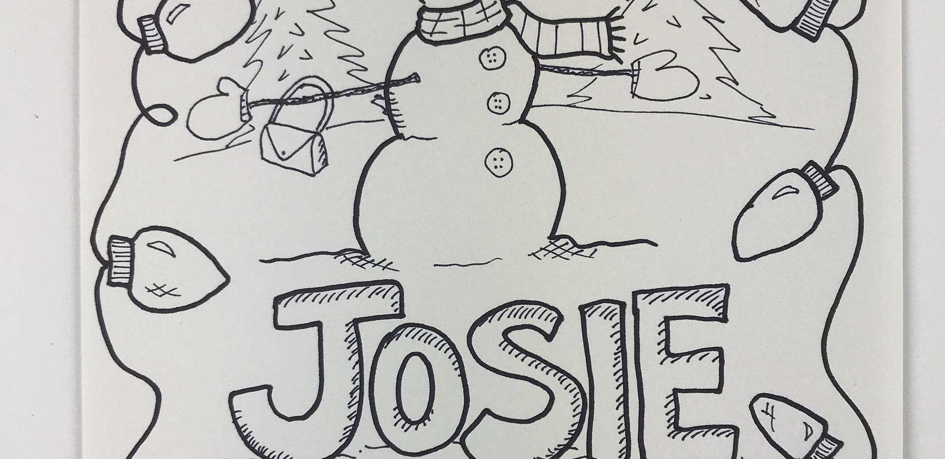Josie's Snowman