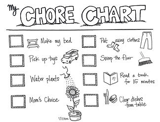 Get your kids to chip in around the house with this illustrated chore chart. Customization for your tasks and to-do's is just $5 and available in Custom Coloring Mom's online order form.
