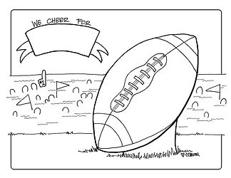 Who are you cheering for? This customizable football coloring page lets you add plenty of team spirit to root on your favorite team.
