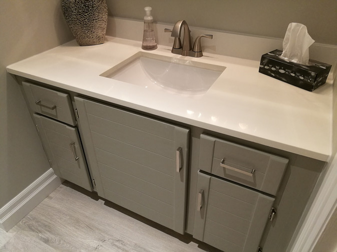 Refinished Vanity With New Countertop