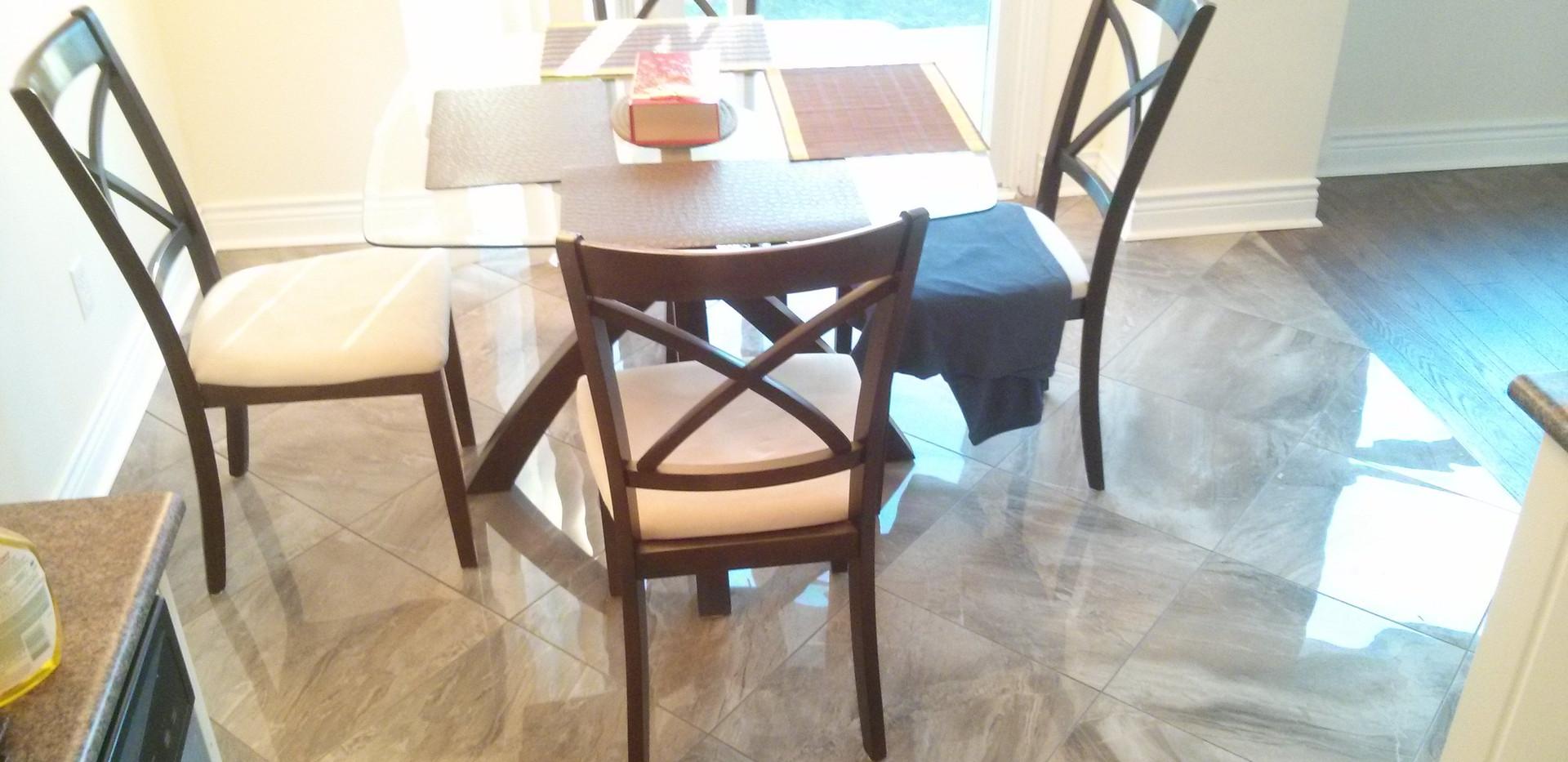 Kitchen Eating Area 18x18 Porcelain Tile